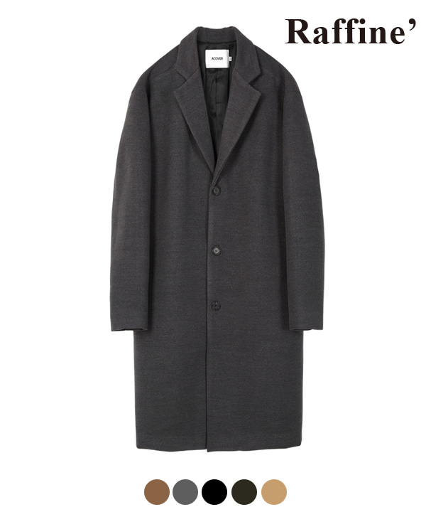 [11월22일 예약발송]HEAVY WOOL BLEND SINGLE COAT CHARCOAL