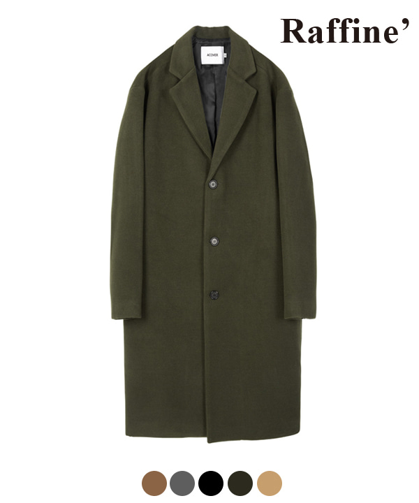 [11월22일 예약발송]HEAVY WOOL BLEND SINGLE COAT KHAKI
