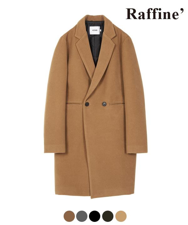 HEAVY WOOL BLEND DOUBLE COAT BEIGE
