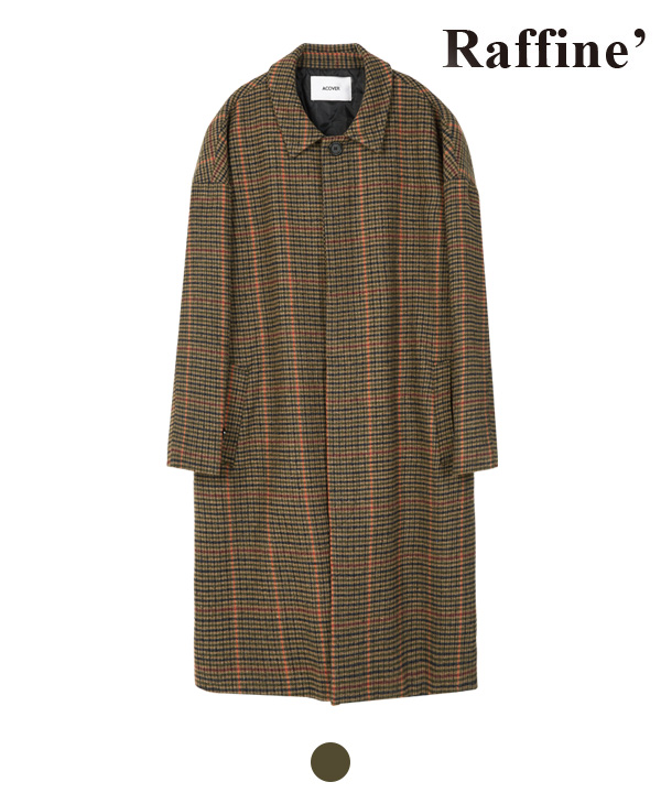 [11월20일 예약발송] HIDDEN BUTTON MAC COAT