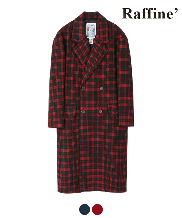 [11월27일 예약발송] ARRANGEMENT CHECK DOUBLE COAT RED