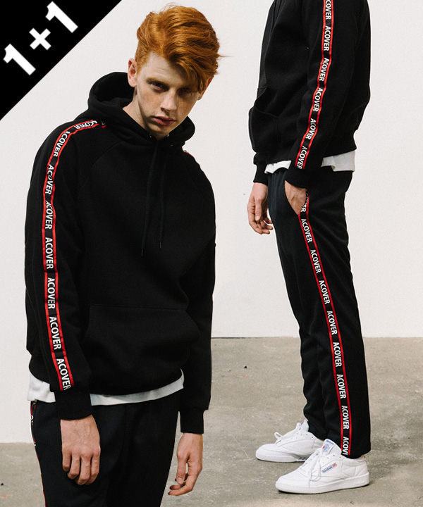 [1+1] ACOVER TAPE HOODIE + ACOVER TAPE TRACK PANTS