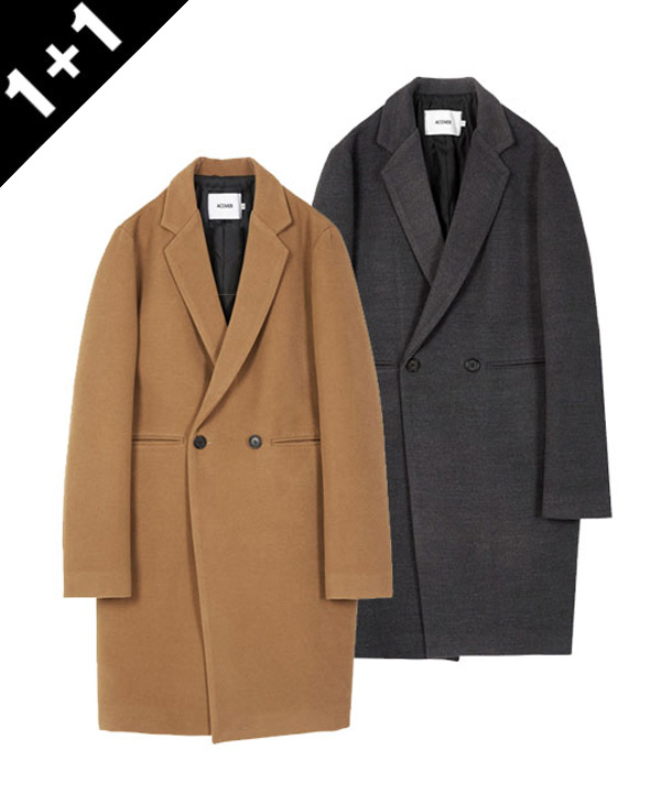 [1+1]HEAVY WOOL BLEND DOUBLE COAT