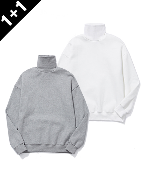 [1월19일 예약발송] [1+1] TURTLENECK SWEATSHIRTS