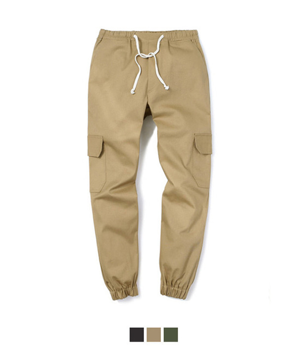 COTTON CARGO REGULAR PANTS