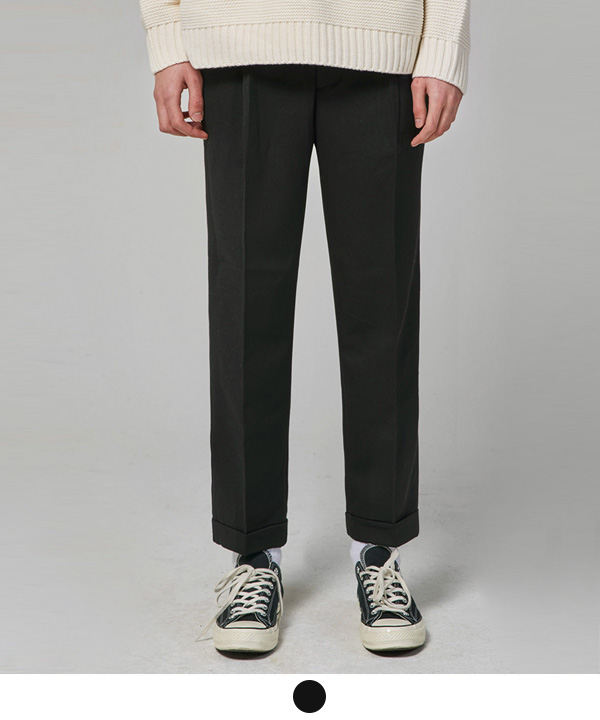 Onetuck Regular Slacks Black