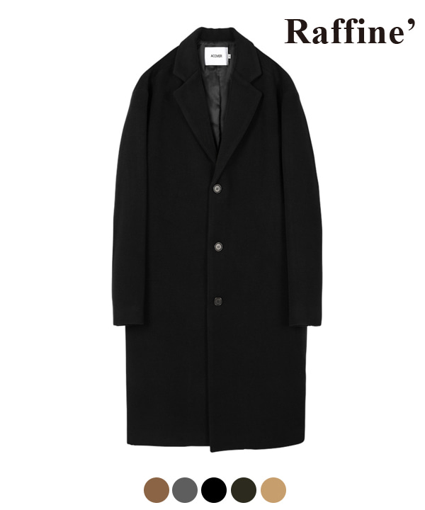 HEAVY WOOL BLEND SINGLE COAT BLACK