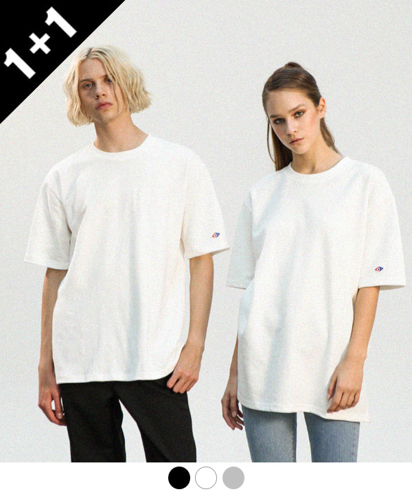 [1+1] Double Cotton Long T-Shirts