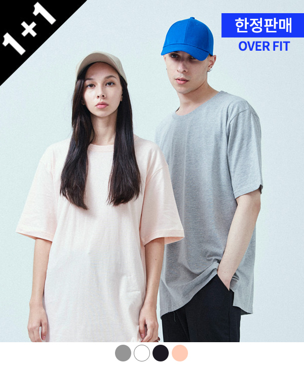 [ACOVER X MUAHMUAH][1+1] BASIC COOL SIDE-VENT T-SHIRTS