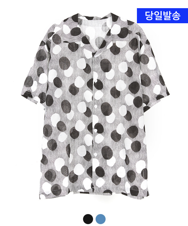 CIRCLE OPEN COLLAR SHIRTS