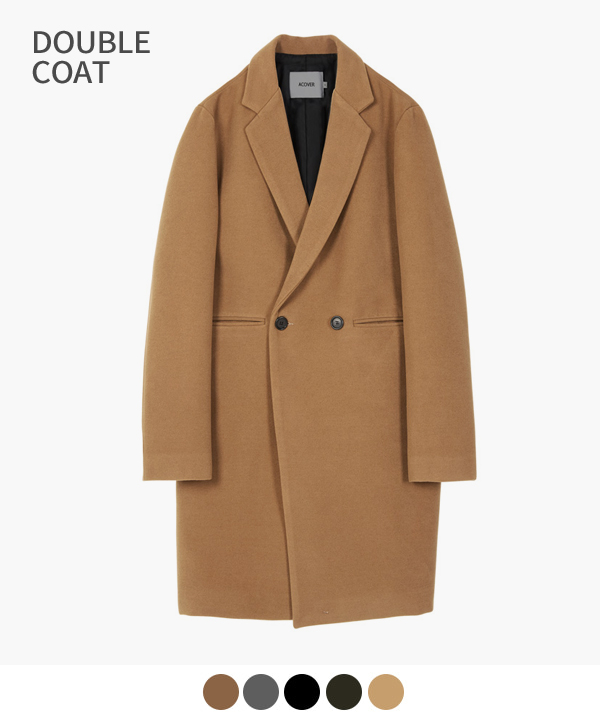 HEAVY WOOL BLEND DOUBLE COAT