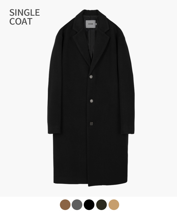 HEAVY WOOL BLEND SINGLE COAT