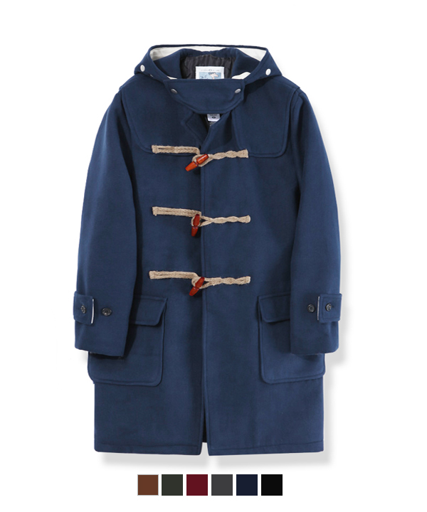 Wool Duffle Coat Navy