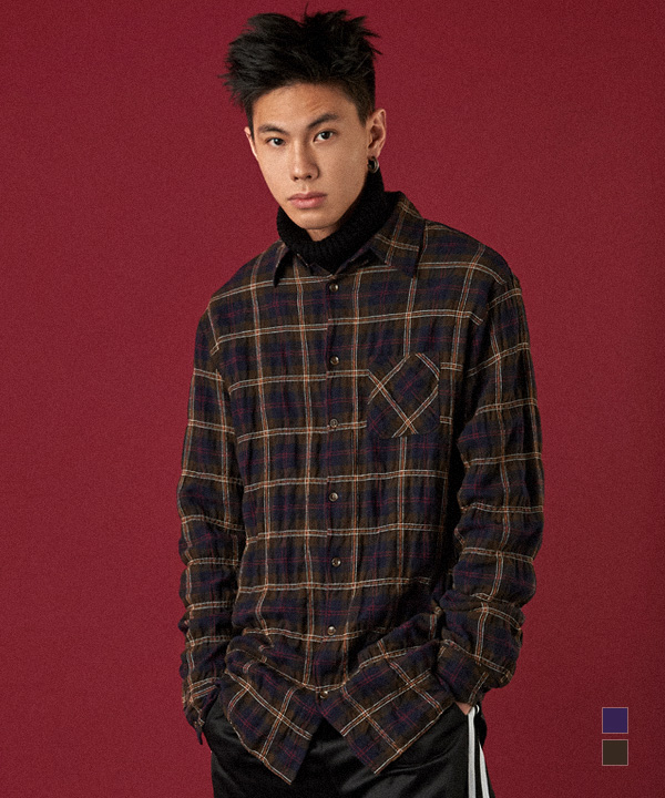 Loco Embo Check Shirts Brown