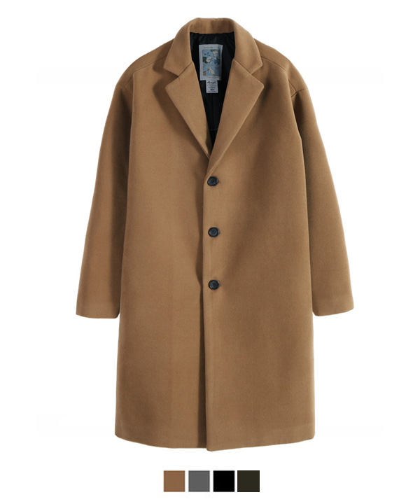 Heavy Line Wool Single Coat Beige