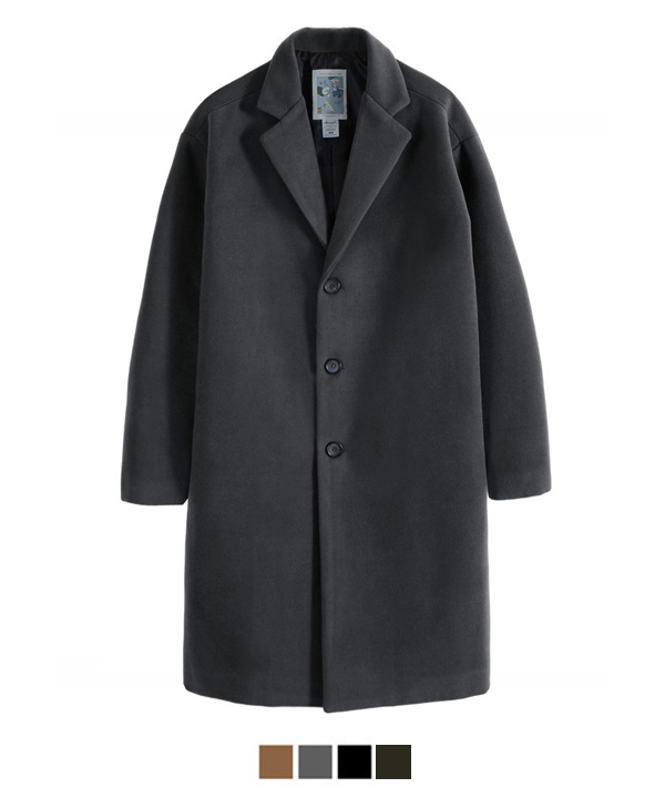 Heavy Line Wool Single Coat Charcoal
