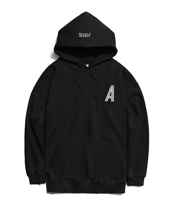 BACK SIDE REFLECTIVE HOODIE BLACK