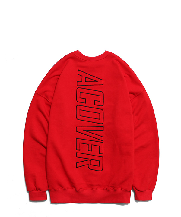 BE COLORFUL DROP SHOULDER SWEATSHIRTS RED