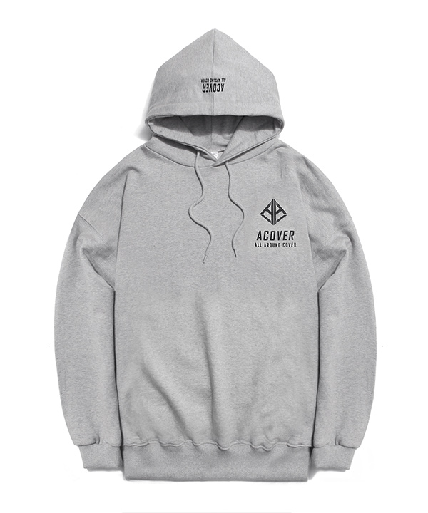 A LOGO GRAPHIC HOODIE GRAY