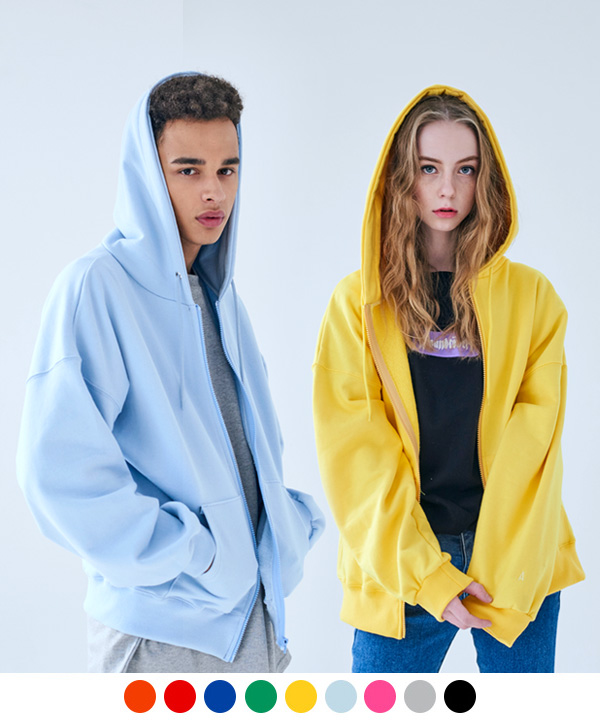 COLORFUL Z BASIC HOODIE ZIP-UP