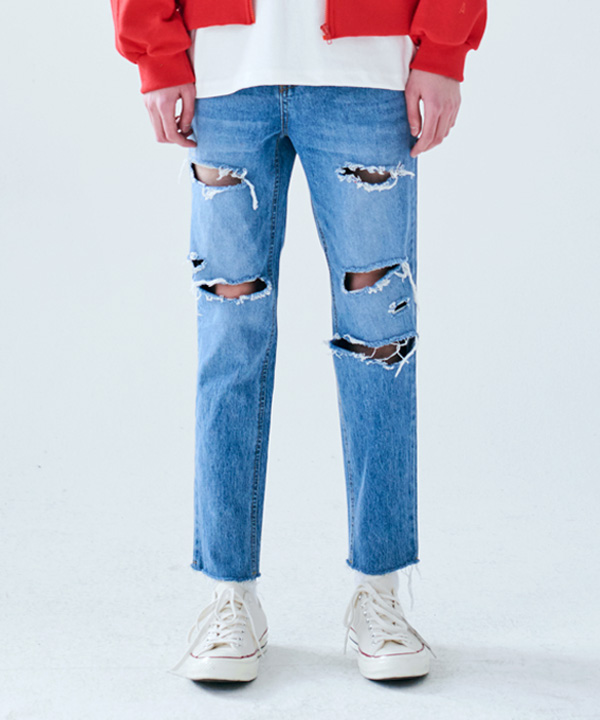 NON SPAN DAMAGED JEANS