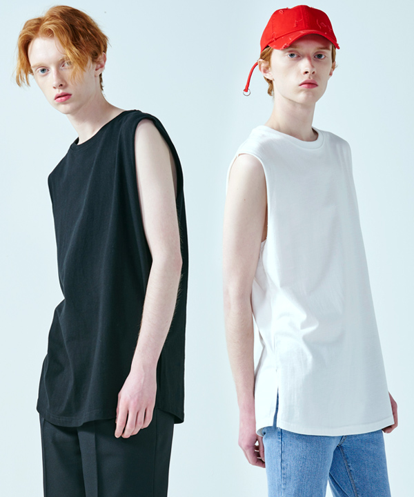 [7월26일예약배송][1+1] LINE SLEEVE T-SHIRT