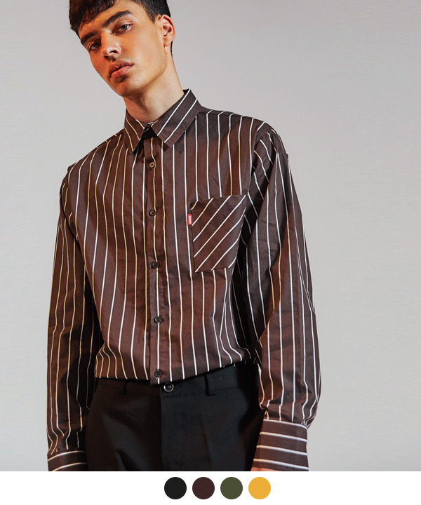 [9월20일 예약배송] PIN POINT STRIPE SHIRTS