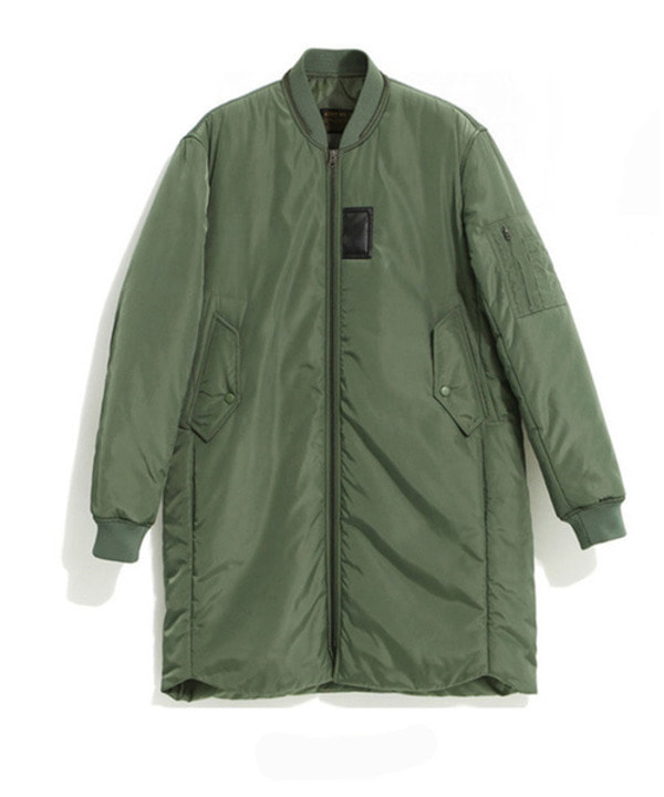 [MA-1 6oz] Long Padding Jacket Khaki
