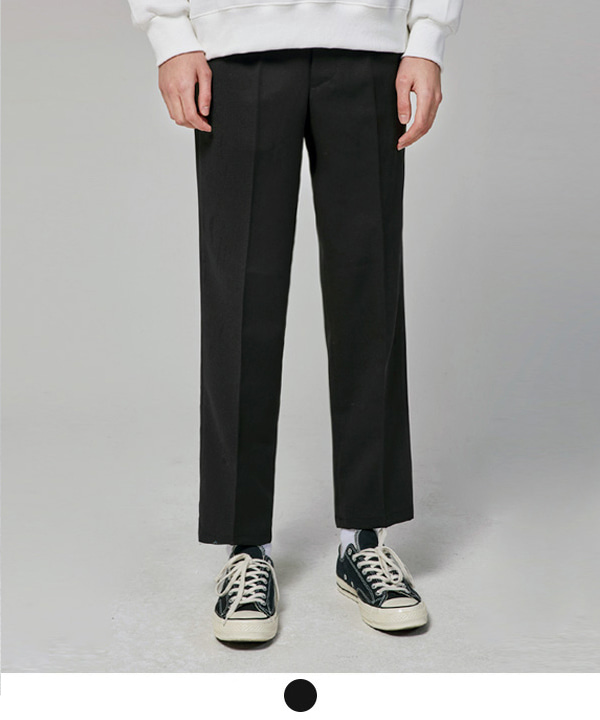 [2월26일 예약발송]Wide Fit Ankle Slacks Black