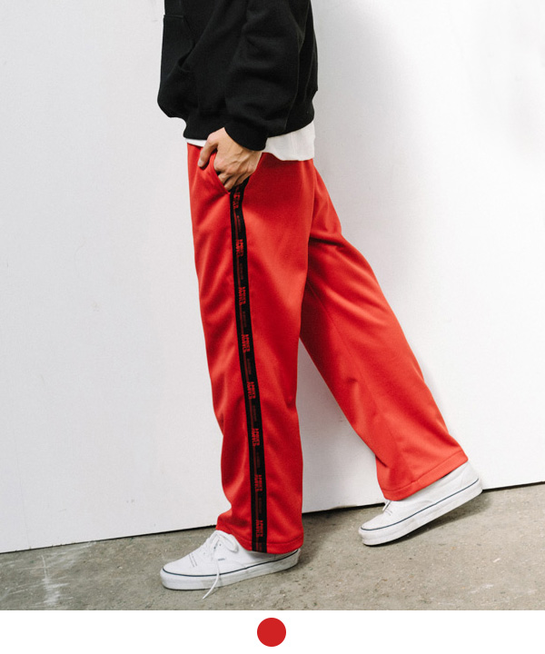 BLACK TAPE TRACK PANTS